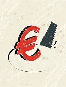 Euro Symbol,European Union Currency,Currency,Risk,Hole,Finance,Thief,Bank,Greed,1940-1980 Retro-Styled Imagery,Inflation,Symbol,Stealing,Banking,Retro Revival,Concepts,Ilustration,Business,Despair,Investment,Ideas,Modern Life,Savings,Worried,Vertical,Hand Saw,Wealth,Business Concepts,Negative Emotion,No People,Economic Depression,Simplicity,Currency Symbol,Concepts And Ideas,Security,Failure,Textured Effect,Silhouette,Silk Screen,Copy Space,Euro Crisis,Sawing,Grunge,Vector,Insurance,Credit Crunch,Business,Burglary,Business Symbols/Metaphors,Home Finances,Safety