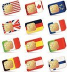 SIM Card,UK,Mobile Phone,Telephone,European Union,European Union Flag,Flag,Canada,USA,Italy,Technology,Internet,Finland,France,Belgium,Germany,Computer Chip,Telecommunications Equipment,Vector Icons,Isolated Objects,Isolated,Portugal,Vector,No People,Global Communications,Computer Icon,Spain,Wireless Technology,Data,Communications Technology,Illustrations And Vector Art,Equipment,Technology