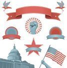 Banner,Placard,Election,Retro Revival,Washington DC,Protest,Capitol Building,Politics,Revolution,Eagle - Bird,USA,Government,Fist,Voting,1940-1980 Retro-Styled Imagery,Symbol,Political Rally,Flag,Award Ribbon,Ribbon,American Culture,Silhouette,Human Hand,Independence Day,Badge,Patriotism,Vector,Building Exterior,Built Structure,Design Element,Star Shape,Insignia,Fourth of July,Circle,Power,Pride,Red,Waving,Blue,Inspiration,Hand Raised,Arms Raised,Independence,Copy Space,Sunbeam,Motivation,Scroll Shape
