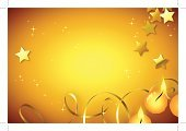 New Year's Eve,Backgrounds,New Year's Day,New Year,Party - Social Event,Candle,Gold Colored,Christmas,Star Shape,Shiny,Celebration,Streamer,Copy Space,Holidays And Celebrations,Holiday Backgrounds,Confetti,Holiday,Parties,Illustrations And Vector Art,Vector Backgrounds,Decoration,High Angle View,Directly Above,Horizontal