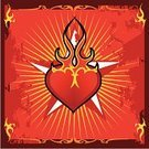 Tattoo,Heart Shape,Flame,Star - Space,Frame,Dirty,Modern Rock,Spiked,Symbol,Tribal Tattoo,Love,accents,Shiny,Sign,Public Utility,Decoration