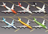 Isometric,Airplane,Commercial Airplane,Window,Air Vehicle,Carrying,Passenger,Delivering,Air,Piloting,Freight Transportation,Vector,Travel,Supersonic Airplane,Clip Art,Engine,Transportation,Transport Of Goods,Flying,Airbus,Boeing,Wing