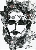 Beard,Ilustration,Human Face,Leaf,Mustache,Human Mouth,Men,Black Hair,Human Eye,Human Lips,Isolated On White,Visual Art,Vector Backgrounds,Arts And Entertainment,Illustrations And Vector Art,Isolated,sunglass
