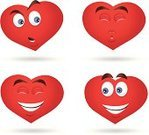 Heart Shape,Smiley Face,Computer Icon,Kissing,Smiling,Illustrations And Vector Art,Emotion,Holiday Symbols,Red,Valentine's Day,Holidays And Celebrations,Valentine's Day - Holiday,Holiday,Vector Icons,Facial Expression,Laughing,Disappointment,Love