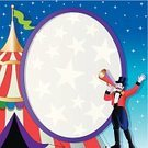 Circus,Ringmaster,Copy Space,Cartoon,Circus Tent,Circus Performer,Megaphone,Vector,Clip Art,Entertainment,Star - Space,Frame,Color Image,Ilustration,Characters,Holidays And Celebrations,Announcement Message,Shouting,Arts And Entertainment,Illustrations And Vector Art,Square,Backgrounds,Waving