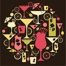 Cocktail,Party - Social Event,Alcohol,Martini,Margarita,Symbol,Silhouette,Vector,Icon Set,Orange - Fruit,Mojito,Lime,Lemon,Olive,Ilustration,Garnish,Cartoon,Pina Colada,Slice,Vector Icons,Food And Drink,Parties,Alcohol,Holidays And Celebrations,Illustrations And Vector Art