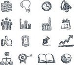 Sketch,Symbol,Computer Icon,Business,Drawing - Art Product,Icon Set,Calendar,Book,Graph,Factory,Light Bulb,Ilustration,Bar Graph,Ideas,Pencil Drawing,Pie Chart,Design Element,Time,Black Color,Target,Clock,Mobile Phone,Pen,Thumbs Up,Touch Screen,Writing,Aspirations,Accuracy,Correspondence,Vector,White Background,Pencil
