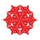 Illustrations And Vector Art,Holidays And Celebrations,Isolated Objects,Holiday Symbols,Design,Decoration,Red,Paper,Snowflake,Vibrant Color