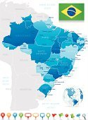 Brazil,Map,Cartography,Rio de Janeiro,Vector,regions,South America,Straight Pin,Sao Paulo,Flag,Globe - Man Made Object,Symbol,Minas Gerais State,World Map,Brazilian Flag,Belem,Distance Sign,Tourism,Arrow Symbol,Unity,Tourist,Capital Cities,Ilustration,Sphere,Rio Grande - Usa And Mexico,City,Label,Parana State,Santos,Illustrations And Vector Art,countries,Travel,Blue,Distance Marker,Travel Locations,National Flag,Separation,Geographical Locations,Brasilia,Navigational Equipment,Land,Magnifying Glass,Global Positioning System,Travel Destinations