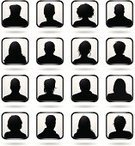 Silhouette,Human Head,Human Face,Avatar,Portrait,Women,Front View,Head And Shoulders,People,Senior Men,Adult,Men,Senior Women,Human Hair,Shoulder,Frame,Group Of People,Mature Women,Young Men,Mature Men,Vector,Mid Adult Men,Ilustration,Young Women,Illustrations And Vector Art,People,Vector Icons,Mid Adult Women