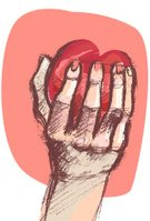 Valentine's Day - Holiday,People,Human Hand,Help,Holidays And Celebrations,Concepts And Ideas,Valentine's Day,Life,People,Giving,Vector,Sketch,Doodle,Heart Shape,Love