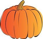Pumpkin,Vegetable,Vector,Autumn,Ilustration,Large,Crop,Seed,Growth,Computer Graphic,Wide,Brown,Cultures,Orange Color,Holiday,Stem,Time,Halloween,Concepts And Ideas,Holidays And Celebrations,Food And Drink,stocky,Season,Ripe