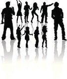 People,Joy,Dancing,Design,Crowd,Microphone,Pop Musician,Performer,Party - Social Event,Disco Dancing,Silhouette,Curve,Fun,Adult,Young Adult,Singer,Music,Outline,Group Of People,Males,Men,Females,Women,Artist,Photography,Vector,Design Element