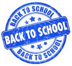 Back to School,Education,School Building,Rubber Stamp,Sign,Symbol,Rear View,Computer Icon,Ilustration,Track,Label,Grunge,Blue,Ink,White Background,Insignia,Isolated On White,Isolated