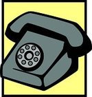 Rotary Phone,Telephone,Vector,Communication,Old-fashioned,Telephone Receiver,Ilustration,Dial,Connection,Obsolete,No People,Illustrations And Vector Art,Technology,Concepts And Ideas,Business People,Business,Black Color,Gray,Yellow