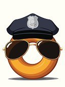 Police Force,Donut,Food,Symbol,Eyeglasses,Authority,Cartoon,Detective,Security Guard,Eating,Security,Police Uniform,Hat,Law,Unhealthy Eating,Men,Badge,Humor,Snack,Drink,Refreshment,Fun,Food And Drink,Pastry,Business,deputy,Dairy Products,Gourmet,patrolman,Baking,Officer,Uniform,Junk Food/Fast Food,Occupation