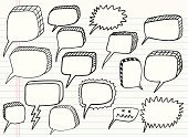 Speech Bubble,Drawing - Art Product,Doodle,Vector,Illustrations And Vector Art,Set,Ilustration