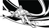 Skiing,Action,Plan,Ski,Speed,Effortless,Winter,Modern,Ilustration,Sport,In A Row,Athlete,Vector,Performing Arts Event,Male,Computer Graphic,Ink,Stunt,European Alps,Muscular Build,People,Composition,Black And White,Black Color,Single Line,Motion,Blurred Motion,Smooth,High Contrast,The Human Body,Design,White,Performance,Mountain,Liquid,Strength,Contrasts,Air