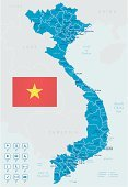 Vietnam,Map,Cartography,Vietnamese Flag,Vector,Ilustration,Travel Destinations,Asia,Hanoi,Distance Marker,Gray,Geographical Locations,Magnifying Glass,Navigational Equipment,National Flag,Separation,Global Positioning System,Illustrations And Vector Art,ha long,Straight Pin,Arrow Symbol,Label,Unity,Capital Cities,City,Land,Flag,Distance Sign,regions,Ho Chi Minh City,Blue,countries,Travel Locations,Tourism,Travel,Haiphong Province,Symbol