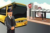Bus Driver,Bus,Bus Station,Driver,Cartoon,Standing,Coach Bus,Service,People,Manual Worker,City,Public Transportation,Men,Happiness,People,City Life,Male,Smiling,Illustrations And Vector Art,Transportation,Drawing - Art Product,Professional Occupation,Working,Occupation,Job - Religious Figure,Urban Scene,Vector Cartoons,Vector,Ilustration