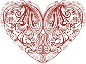 Heart Shape,Swirl,Valentine's Day - Holiday,Red,Ornate,Beauty,Romance,Decoration,Design,Pattern,Design Element,Scroll Shape,Vector Backgrounds,Shape,Illustrations And Vector Art,Vector Ornaments,Vector,Ilustration,Abstract,Curled Up,Love