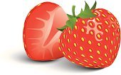 Strawberry,Isolated,Ilustration,Fruit,Vector,Single Object,Vegetarian Food,Organic,Color Image,Food,Studio Isolated,Food And Drink,Berry Fruit,Ripe,Healthy Eating,Colors,Leaf,Sweet Food,Isolated Objects,Fruits And Vegetables,Close-up,Macro,Red,Green Color,Shiny,Freshness