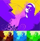 Sunglasses,Eyeglasses,Young Men,Men,City Life,Silhouette,Urban Scene,Cool,Vector,Abstract,Single Line,Backgrounds,Computer Graphic,Funky,City,Shape,Art,Purple,One Person,Arrow Symbol,Elegance,Green Color,Design,Digitally Generated Image,Textured,Yellow,Aviator Glasses,Blue,Ilustration,Standing
