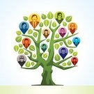 Family Tree,Tree,Business,Teamwork,Social Issues,Roman Forum,Communication,Team,Symbol,Computer Icon,Discussion,Green Color,Information Medium,Vector,Blog,Global Communications,Abstract,Branch,Ilustration,The Media,Digitally Generated Image,Nature,Creativity