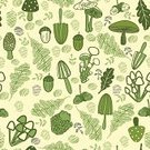 Mushroom,Acorn,Tree,Pattern,Wallpaper Pattern,Vegetable,Eating,Leaf,Truffle,Oak,Sketch,Forest,Seamless,Repetition,Backgrounds,Ilustration,Plants,Vector Backgrounds,Nature,Nature Backgrounds,Plant,Fabric Swatch,Textile,Nature,Illustrations And Vector Art