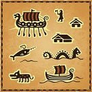 Viking,Viking Ship,Treasure Map,Symbol,Adventure,Computer Icon,Role-playing Games,Wolf,Sea Monster,Fantasy,Medieval,Map,Monster,Renaissance,House,Fish,Warrior,Sailing Ship,Military Ship,Cartography,Scandinavia,Exploration,Parchment,Europe