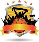 Basketball,Basketball - Sport,Fan,Orange Color,Illustrations And Vector Art,Concepts And Ideas,Sports And Fitness,Sphere,Star Shape,Striped,Ball