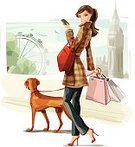 Women,Shopping,Retail,Teenage Girls,Dog,London - England,Fashion,Walking,Text Messaging,Ilustration,Fashion Model,Urban Skyline,Cartoon,Mobile Phone,Modern,City,Female,England,Street,Elegance,Big Ben,Customer,Young Women,Shopping Bag,Happiness,High Heels,Lifestyles,Vizsla,Millennium Wheel,Luxury,Beautiful,Glamour,Purse,Europe,Clip Art,Jacket,Vector,Jeans,Urban Scene,Brown Hair,Beauty,Checked,Smiling,Femininity,Tree,Pets,UK,Red,Coat,Consumerism,Concepts And Ideas,Vector Cartoons,Outdoors,Slim,Illustrations And Vector Art,Tartan,Consumerism,Modern Life,City Life