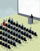 Conference,Conference,Presentation,Public Speaker,Seminar,Podium,Crowd,Chair,Spectator,Meeting,Business,Group Of People,Silhouette,Vector,Q and A,Event,People,Press Conference,Standing Out From The Crowd,Election,Ilustration,Finance,Projection Screen,Professional Occupation,Team,Copy Space