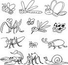 Insect,Ant,Cartoon,Bee,Snail,Doodle,Sketch,Butterfly - Insect,Symbol,Line Art,Pencil Drawing,Spider,Animal,Fly,Computer Graphic,Black And White,Grasshopper,Drawing - Art Product,Vector,Collection,Set,Dragonfly,Locust,Close-up,Animal Leg,Nature,Animals In The Wild,Macro,Wildlife,Small,Beetle,Drawing - Activity,Wasp,Cultures,Animal Antenna,Isolated,Ilustration,Ladybug,Art,Uncultivated,Zoology,Wing,Artificial Wing,Pest