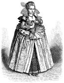 Women,Engraving,19th Century Style,Nobility,Ilustration,Old,Engraved Image,Caucasian Ethnicity,Queen,Retro Revival,People,Elizabeth I Of England,Line Art,Monoprint,Etching,Old-fashioned,High Contrast,Image Created 19th Century,White,Black Color,Drawing - Art Product,Monochrome,Sketch,Victorian Style,Vertical,Wealth,Pencil Drawing,One Person,Ornate,England,Protestantism,Luxury,Black And White,Elegance,Drawing - Activity,Antique,History,Dress,Image Created 1870-1879
