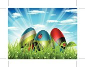 Easter,Christianity,Springtime,Celebration,Sun,Eggs,Easter Egg,Water,Meadow,Blue,Drop,Field,Vector,Sky,Design,Grass,Religion,Luminosity,Nature,Ilustration,Sunlight,Looking At View,Landscapes,Liquid,Nature,Bright,Horizontal,Landscape,Cultures,Outdoors,Leaf,Idyllic,Sunbeam,Red,Scenics,Easter,Holidays And Celebrations,Plant,Multi Colored,Green Color,Paintings,Illustrations And Vector Art,Ladybug,Holiday,Shiny,Freshness,Decoration,Cloudscape,Vibrant Color,Cloud - Sky