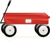 Toy Wagon,Red,Toy,Retro Revival,Classic,Vector,Simplicity,Tire,Isolated,Empty,red wagon,Shiny,Metal,Black Color,Three Dimensional,White,Handle,Antique,Wheel,Copy Space,No People,Color Gradient,radio flyer,Three-dimensional Shape