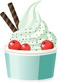 Frozen Yogurt,Yogurt,Ice Cream Sundae,Cup,Dessert Topping,Swirl,Eating,Frozen,Cranberry,Ice,Chocolate,Food,Dessert,Sweet Food,Cold - Termperature,Dairy Products,Healthy Eating,Snack,Softness,Ilustration,Fat,Desert,Red,yummy,Isolated Objects,Turquoise,Dieting,Bowl,Food And Drink,Cream,Single Object,Refreshment,Illustrations And Vector Art,Berry Fruit,Vector,Dairy Product