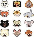 Red Panda,Koala,Asian Black Bear,Arctic Fox,Snow Leopard,Undomesticated Cat,Ape,Panda,Animal,Gray Fox,Group Of Animals,Cartoon,Indian Elephant,Primate,Orangutan,Monkey,Smiling,Bear,Pawed Mammal,Vertebrate,Tiger,Happiness,Herbivorous,Mammals,Nature,Clip Art,Cheerful,Animals In The Wild,Isolated On White,Copy Space,Feline,Spotted,Carnivore,Malayan Sun Bear,Named Animal,Ilustration,Animals And Pets,Vector,Wild Animals,Characters,Humor,Mammal,Pachyderm,Wildlife,Tusk