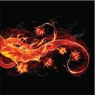 Fire - Natural Phenomenon,Flower,Flame,Smoke - Physical Structure,Photographic Effects,Pattern,Floral Pattern,Igniting,Vector,Painted Image,Red,Glowing,Art,Burning,Grid,Nature,Design,Ilustration,Swirl