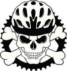 Cycling,Bicycle,Human Skull,Gear,Work Helmet,Skull and Crossbones,Sports Helmet,Cycle,Silhouette,Equipment,Black And White,Art,Design Element,Tattoo,Ilustration,Clip Art,Halloween,Danger,Death,Isolated On White,Horror,Human Face,Black Color,Fear,Evil,Terrified,Human Bone,Vector,Design,Male,White Background,Isolated,Spooky