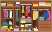 Closet,Clothing,Storage Room,Shoe,Dress,Home Interior,Jacket,Furniture,Coathanger,Shelf,Garment,Fashion,Bedding,Box - Container,Domestic Room,Modern,Wood - Material,Dress Shoe,Hanging,Vector,Choice,Casual Clothing,Homes,Architecture And Buildings,Objects/Equipment,Indoors,Blouse,Fashion,Case,Household Objects/Equipment,Beauty And Health