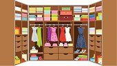 Closet,Clothing,Domestic Room,Rack,Garment,Shoe,Furniture,Warehouse,Hanging,Fashion,Shelf,Coathanger,Bedding,Home Interior,Shirt,Modern,Beauty And Health,Dress Shoe,Architecture And Buildings,Casual Clothing,Fashion,Dress,Indoors,Vector,Homes,Objects/Equipment,Household Objects/Equipment,Case,Wood - Material,Box - Container,Choice