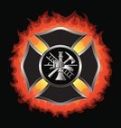 Maltese Cross,Firefighter,Smoke Jumper,Cross Shape,Fire - Natural Phenomenon,Axe,Equipment,Emergency Services,Fuel Pump,Flame,Heat - Temperature,Shiny,Ladder,Work Tool,Illustrations And Vector Art,Hook,Ilustration,Objects/Equipment,Work Helmet,Vector,Silver Colored