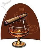 Cigar,Tobacco Crop,Whiskey,Bar Counter,Bar - Drink Establishment,Scotch Whisky,Cognac - Brandy,Brandy,Bourbon Whisky,Smoke - Physical Structure,Alcoholism,Glass,Distillation,Drink,Food And Drink,Illustrations And Vector Art,Alcohol,Alcohol,Liquid,Alcohol,No People,Rum,Relaxation,Restaurant