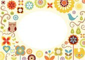 Owl,Flower,Gardening,Springtime,Flower Bed,Retro Revival,Hippie,Frame,1940-1980 Retro-Styled Imagery,Backgrounds,Computer Graphic,Summer,Bird,Floral Pattern,Fruit,Vector,Apple - Fruit,Sun,Sunlight,Ilustration,Butterfly - Insect,Plant,Outdoors,Cheerful,Chicken - Bird,Crop,Multi Colored,Funky,Pear,Beauty In Nature,Stem,Bluebird,Nature,Happiness,Vibrant Color,Illustrations And Vector Art,Growth,Summer,Nature,Flowers,Ornate