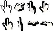 Human Hand,Computer Mouse,Cursor,Internet,Computer,Link,Symbol,Vector,Pointing,Choosing,Three-dimensional Shape,Computer Icon,Variation,Digitally Generated Image,Black And White,Aspirations,Concepts And Ideas,Communication,Design,Ilustration,Computer Graphic,Choice