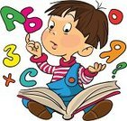 Child,Cartoon,Little Boys,Number,Reading,Learning,Book,Schoolboy,Alphabet,School Children,Intelligence,Student,Education,Text,Cute,Teaching,Curiosity,Imagination,Preschooler,Small,Human Face,Literature,People,Studying,Human Head,Childhood,Illustrations And Vector Art,Babies And Children,Industry,hand drawing,Lifestyle,Education,Vector,Vector Cartoons,Ilustration,Caucasian Ethnicity,Colors