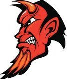 Devil,Mascot,Human Face,Demon,Human Head,Profile View,Evil,Vector,People,Vector Cartoons,Illustrations And Vector Art,Horned,Ilustration,Image