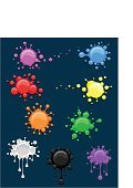 splats,Spray,Multi Colored,Paintings,Ink,Blood,Stained,Wet,Abstract,Splashing,Artist's Canvas,Art Product,Blob,Liquid,Illustrations And Vector Art,Drop,Bubble,Dirty,Spraying